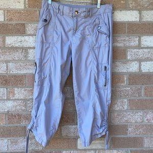 Style & Co Cargo Capri Pants, Soft Gray